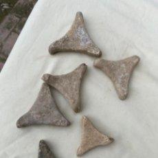 Antigüedades: LOTE DE 6 ANTIGUOS SOPORTES PARA HORNOS CERAMICA SIGLO XIII VER FOTOS. Lote 241870675