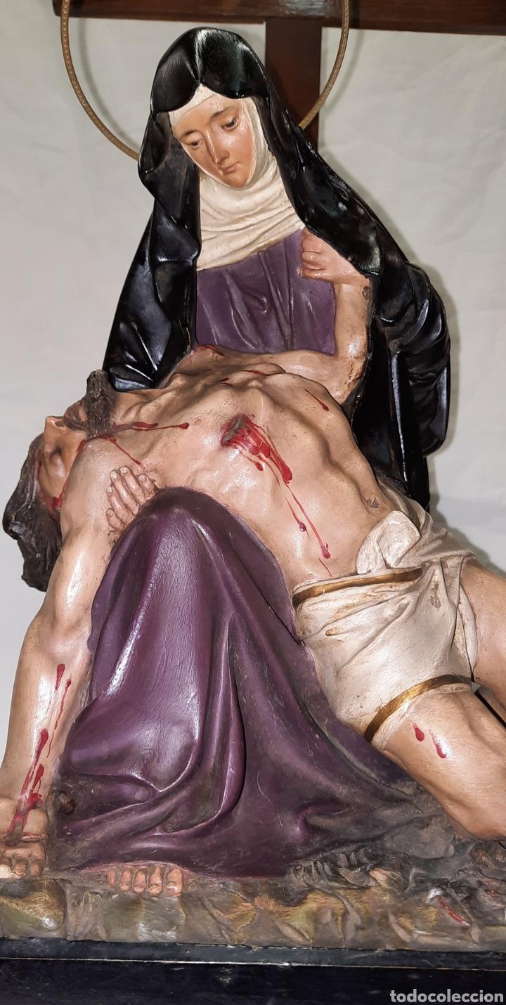 Antigüedades: Antigua Virgen Piedad de Olot - Foto 2 - 241886505