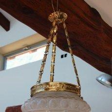 Antiguidades: LAMPARA MODERNISTA AÑOS 20, PRECIOSA TULIPA EN FUNCIONAMIENTO. Lote 241896710