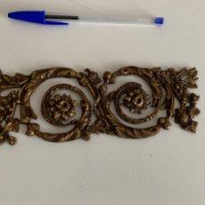 Antigüedades: ORNAMENTO , ADORNO PARA MUEBLE DE BRONCE . FLORES. 19X7 CM. Lote 241898515