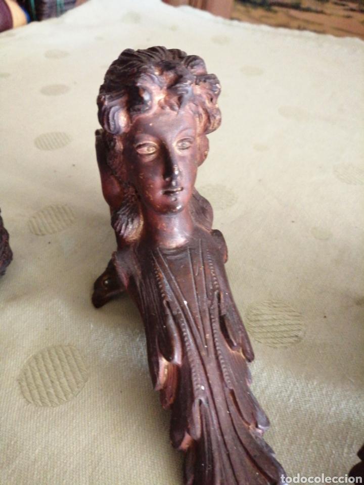 Antigüedades: Figuras de bronce adornos - Foto 3 - 241920590