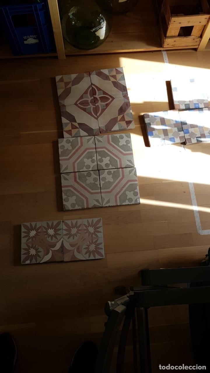 Antigüedades: Magnifico lote de 13 losas antiguas - Foto 6 - 241954805