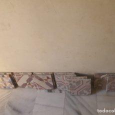 Antigüedades: MAGNIFICO LOTE DE 13 LOSAS ANTIGUAS. Lote 241954805