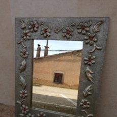 Antigüedades: ESPEJO MADERA Y ESTAÑO.. Lote 241986325