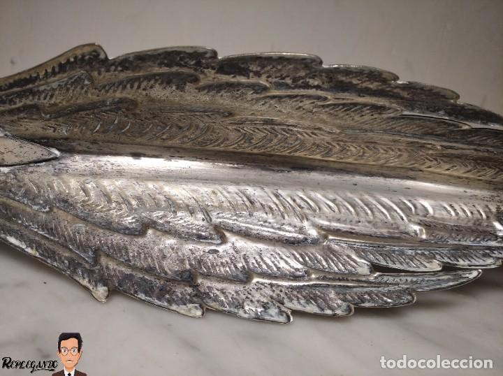 Antigüedades: VINTAGE PAREJA DE FAISANES DE METAL PLATEADO - AÑOS 70 - 16 CENTÍMETROS DE ALTO Y 35 DE LARGO - Foto 7 - 242006470