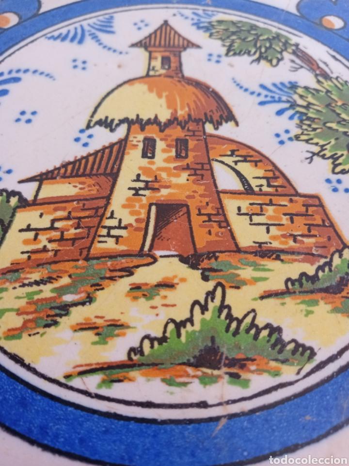Antigüedades: Antiguo azulejo de Triana. Torre, campo y campanario. - Foto 2 - 242013500
