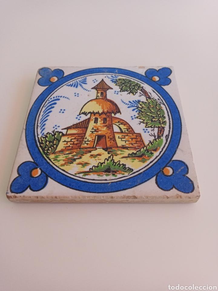 Antigüedades: Antiguo azulejo de Triana. Torre, campo y campanario. - Foto 4 - 242013500