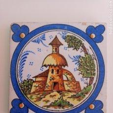 Antigüedades: ANTIGUO AZULEJO DE TRIANA. TORRE, CAMPO Y CAMPANARIO.. Lote 242013500