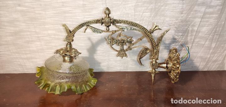 Antigüedades: MAGNIFICO APLIQUE, LAMPARA MODERNISTA , NEOGOTICO - Foto 3 - 242035970