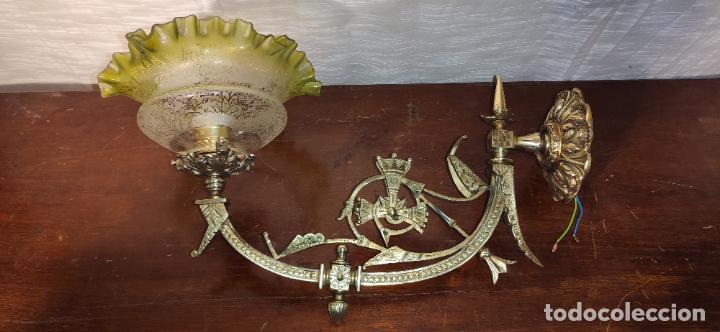 Antigüedades: MAGNIFICO APLIQUE, LAMPARA MODERNISTA , NEOGOTICO - Foto 5 - 242035970