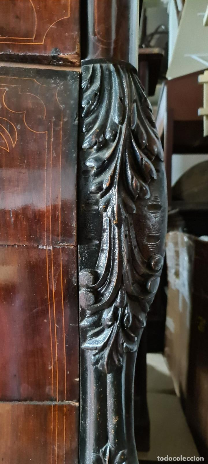 Antigüedades: COMODA EN MADERA DE PALISANDRO. ESTILO ISABELINO. MARQUETERIA DE BOJ. SIGLO XIX. - Foto 2 - 242040395