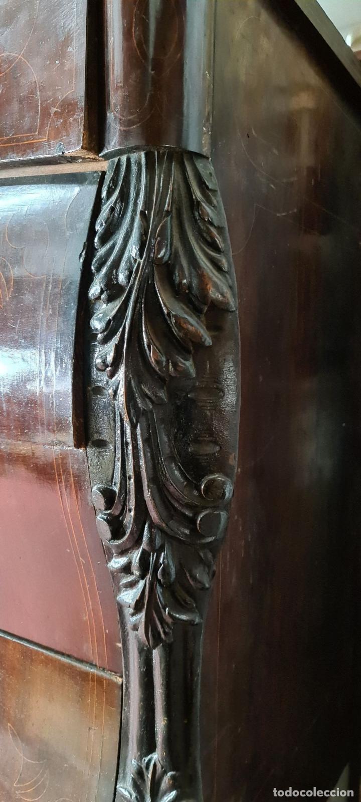 Antigüedades: COMODA EN MADERA DE PALISANDRO. ESTILO ISABELINO. MARQUETERIA DE BOJ. SIGLO XIX. - Foto 3 - 242040395