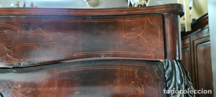Antigüedades: COMODA EN MADERA DE PALISANDRO. ESTILO ISABELINO. MARQUETERIA DE BOJ. SIGLO XIX. - Foto 5 - 242040395