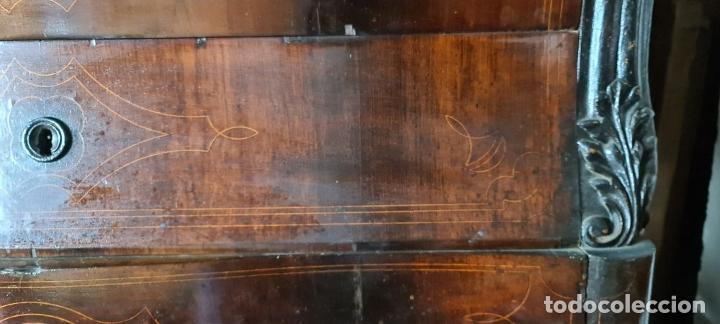 Antigüedades: COMODA EN MADERA DE PALISANDRO. ESTILO ISABELINO. MARQUETERIA DE BOJ. SIGLO XIX. - Foto 15 - 242040395