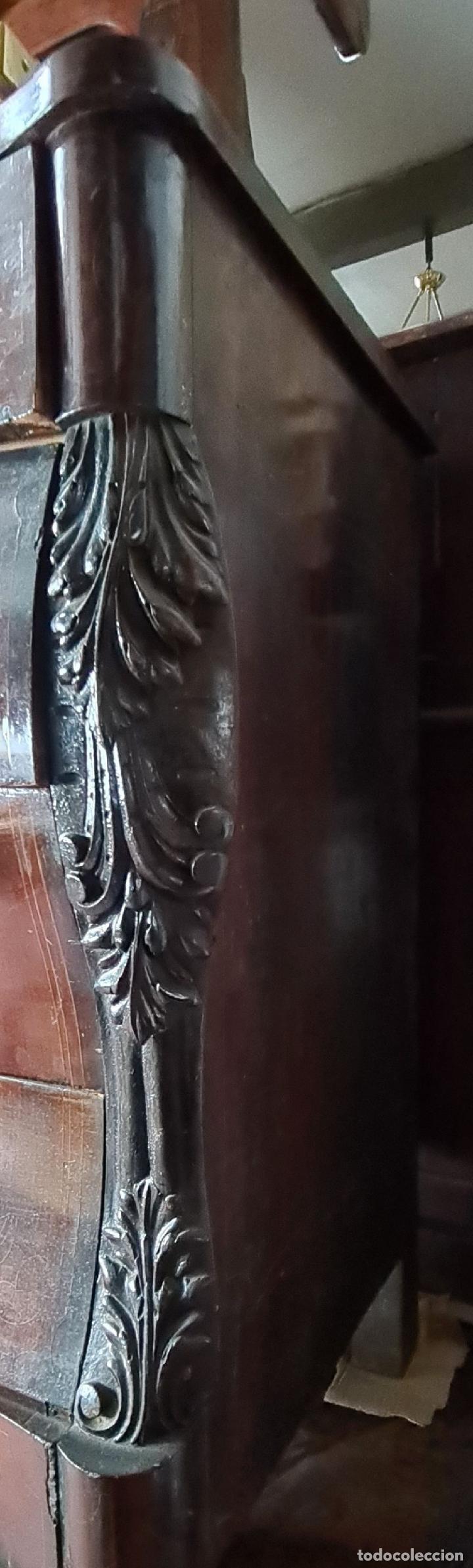 Antigüedades: COMODA EN MADERA DE PALISANDRO. ESTILO ISABELINO. MARQUETERIA DE BOJ. SIGLO XIX. - Foto 23 - 242040395