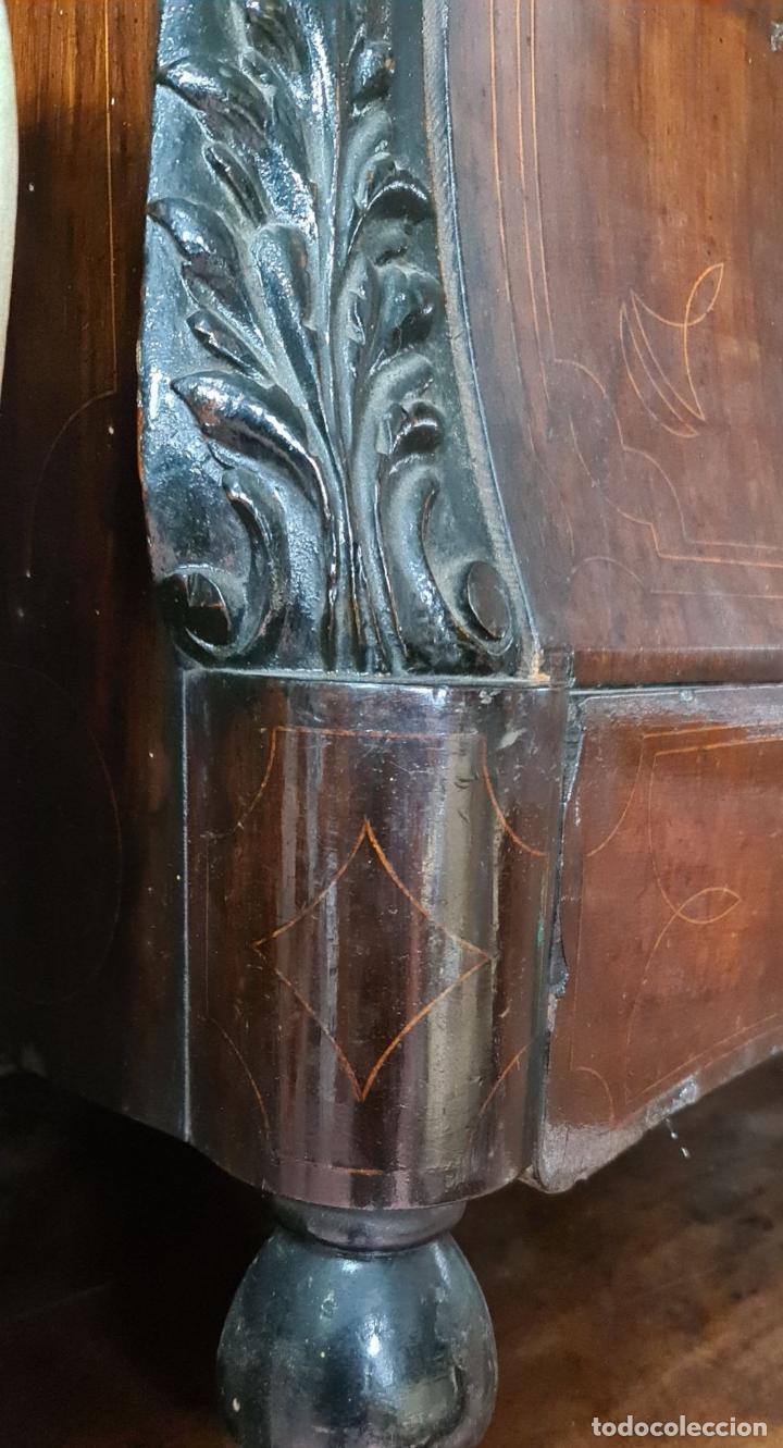 Antigüedades: COMODA EN MADERA DE PALISANDRO. ESTILO ISABELINO. MARQUETERIA DE BOJ. SIGLO XIX. - Foto 25 - 242040395