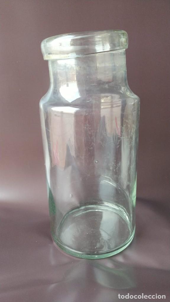 ANTIGUO BOTE / TARRO DE TIENDA, CRISTAL SOPLADO. (Antigüedades - Cristal y Vidrio - Otros)