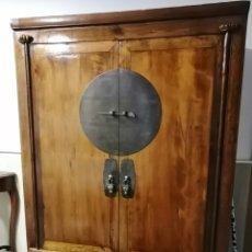 Antiquités: ARMARIO ORIENTAL DE MADERA MACIZA. Lote 242079660
