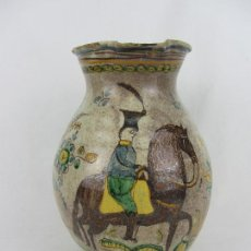 Antigüedades: GRAN Y EXCEPCIONAL JARRON VINATERO EN CERÁMICA DE PUENTE DEL ARZOBISPO - PRINCIPIOS DE SIGLO XIX. Lote 242101710