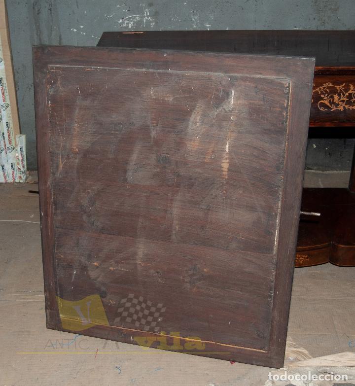 Antigüedades: Espectacular consola antigua del siglo XIX - Molduras doradas, motivos naturales y espejo opaco - Foto 22 - 242119770