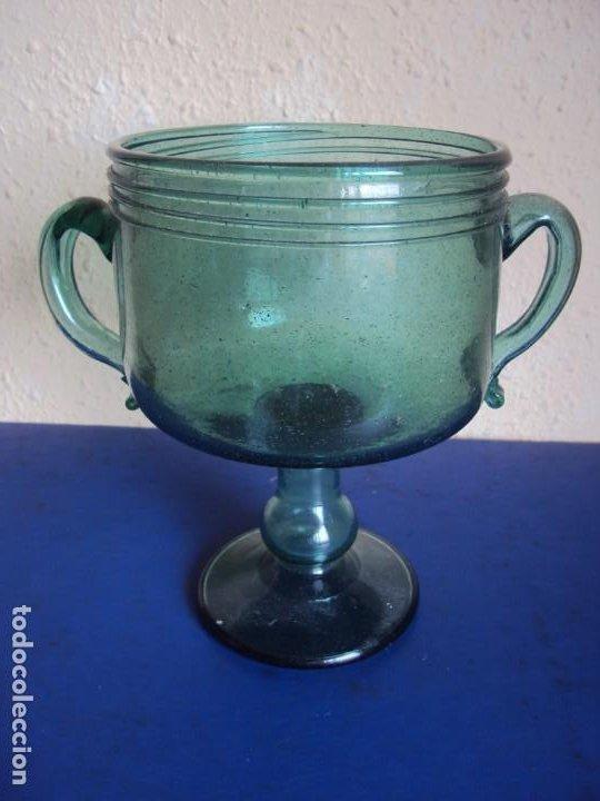 (VID-210121)COPA DE VIDRIO SOPLADO MALLORQUIN (Antigüedades - Cristal y Vidrio - Mallorquín)