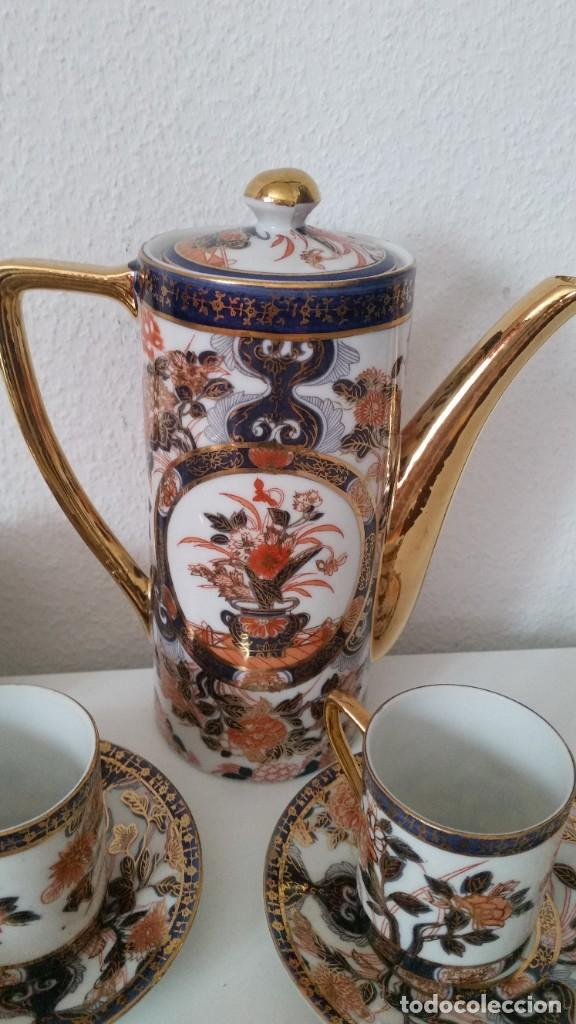 Antigüedades: EXPLENDIDO SERVICIO DE CAFE PORCELANA SA JI FINE CHINA JAPAN ,HECO Y PINTADO A MANO - Foto 7 - 242144345
