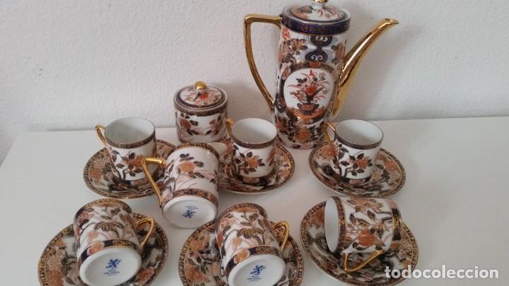 Antigüedades: EXPLENDIDO SERVICIO DE CAFE PORCELANA SA JI FINE CHINA JAPAN ,HECO Y PINTADO A MANO - Foto 8 - 242144345
