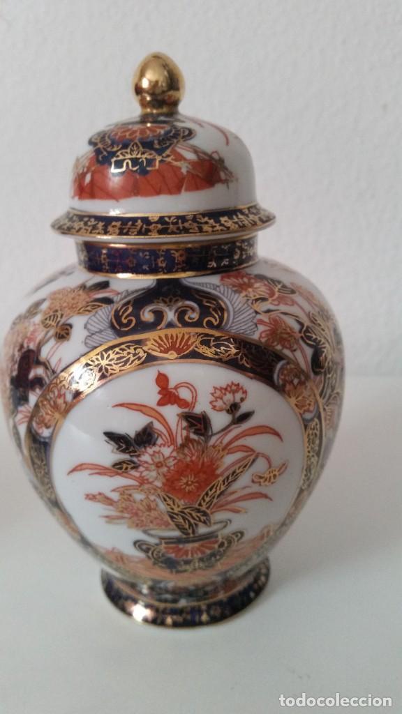 PRECIOSO POTE PORCELANA SA JI FINE CHINA JAPANHECHA Y PINTADA A MANO (Antigüedades - Porcelana y Cerámica - Japón)