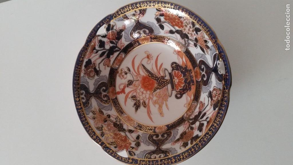 MAGNIFICA FUENTE O CENTRO DE MESA PORCELANA SA JI FINE CHINA JAPAN PORCELANA PINTADA A MANO (Antigüedades - Porcelana y Cerámica - Japón)