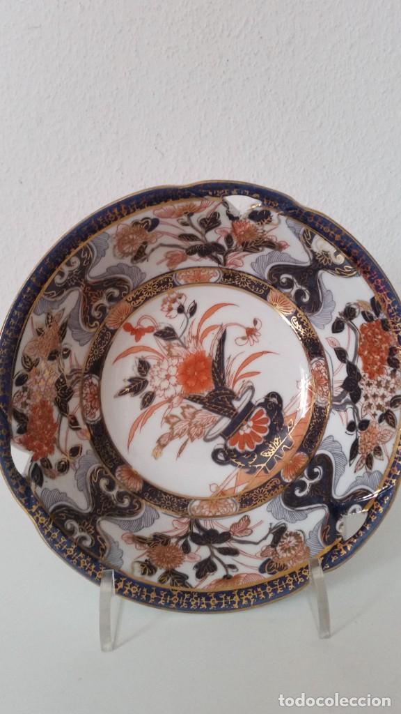 Antigüedades: MAGNIFICA FUENTE O CENTRO DE MESA PORCELANA SA JI FINE CHINA JAPAN PORCELANA PINTADA A MANO - Foto 5 - 242147860