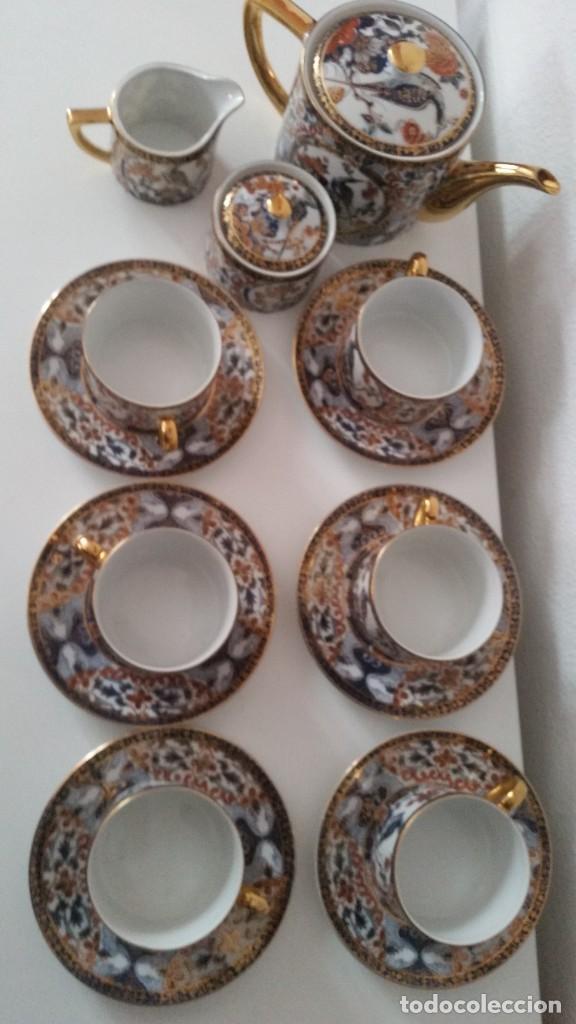 Antigüedades: PRECIOCO SERVISO DE TE AU CAFE PORCELANA SA JI FINE CHINA JAPAN PORCELANA PINTADA A MANO - Foto 2 - 242151115