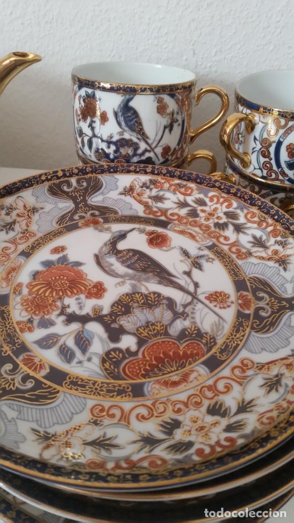 Antigüedades: PRECIOCO SERVISO DE TE AU CAFE PORCELANA SA JI FINE CHINA JAPAN PORCELANA PINTADA A MANO - Foto 6 - 242151115