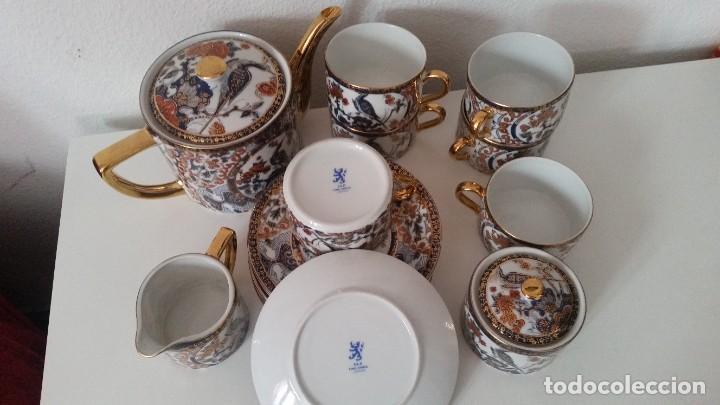 Antigüedades: PRECIOCO SERVISO DE TE AU CAFE PORCELANA SA JI FINE CHINA JAPAN PORCELANA PINTADA A MANO - Foto 10 - 242151115