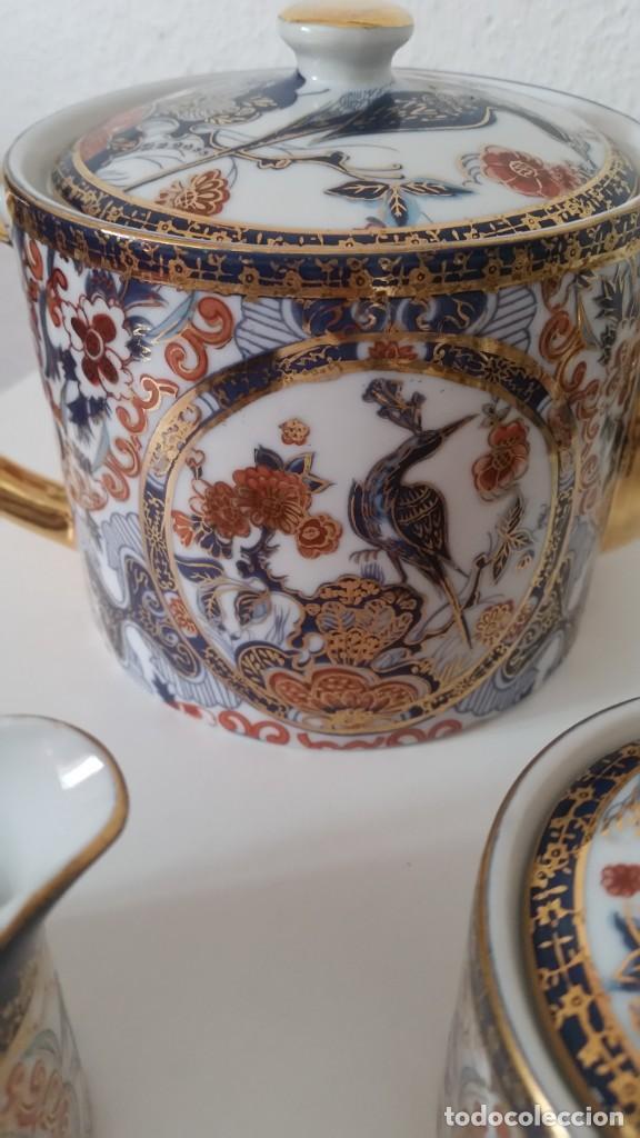 Antigüedades: PRECIOCO SERVISO DE TE AU CAFE PORCELANA SA JI FINE CHINA JAPAN PORCELANA PINTADA A MANO - Foto 12 - 242151115