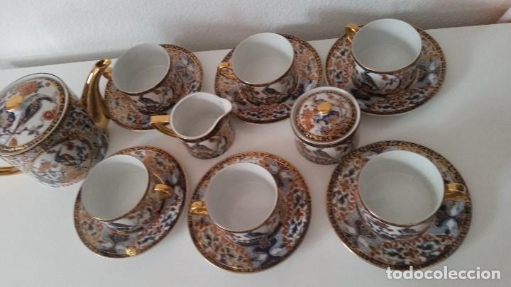 Antigüedades: PRECIOCO SERVISO DE TE AU CAFE PORCELANA SA JI FINE CHINA JAPAN PORCELANA PINTADA A MANO - Foto 14 - 242151115