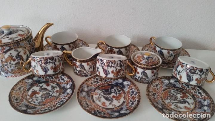 Antigüedades: PRECIOCO SERVISO DE TE AU CAFE PORCELANA SA JI FINE CHINA JAPAN PORCELANA PINTADA A MANO - Foto 15 - 242151115
