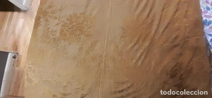 Antigüedades: mantón de seda indumentaria - Foto 6 - 231920695