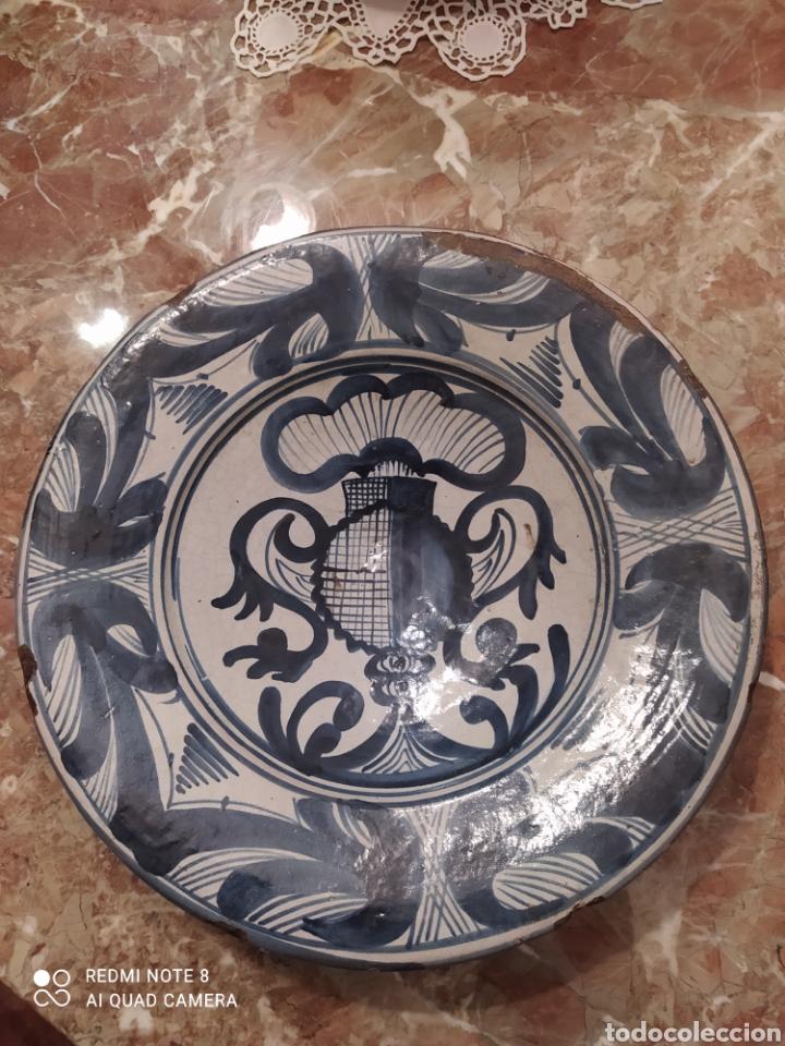 ANTIGUO PLATO CATALAN. (Antigüedades - Porcelanas y Cerámicas - Catalana)