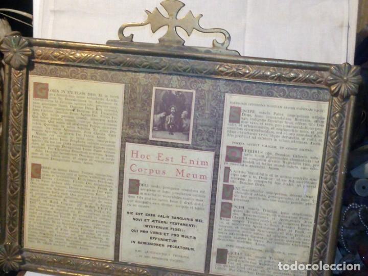 Antigüedades: ~~~~ ANTIGUA SACRA DE BRONCE LABRADO DEL S.XIX PARA ALTAR, IGLESIA O CAPILLA, MIDE 25 X 29,5 CM.~~~~ - Foto 9 - 119649259
