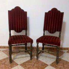 Antigüedades: PAREJA DE SILLAS. Lote 242230645