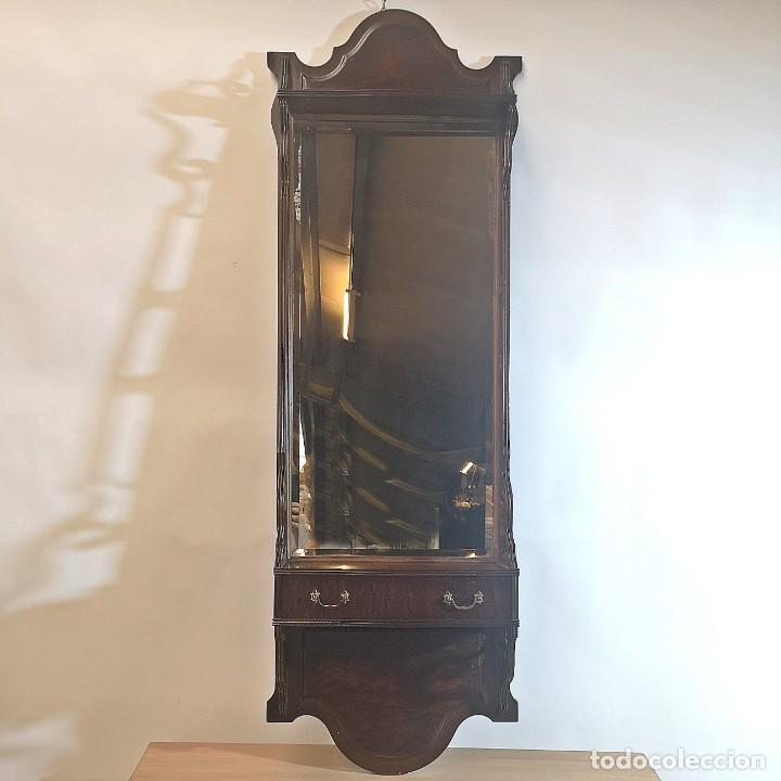 ESPEJO CON CAJÓN (Antigüedades - Muebles Antiguos - Espejos Antiguos)