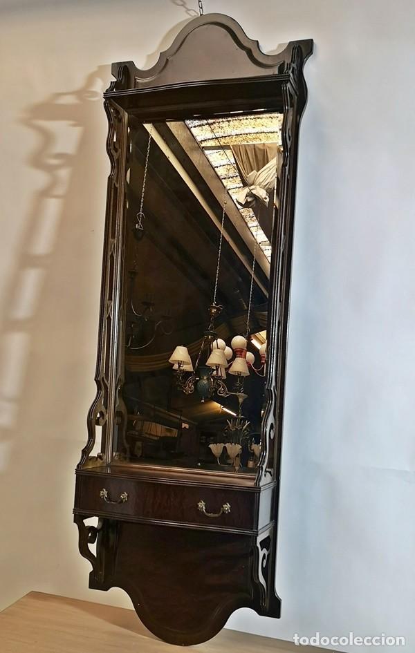 Antigüedades: Espejo con Cajón - Foto 2 - 242272250