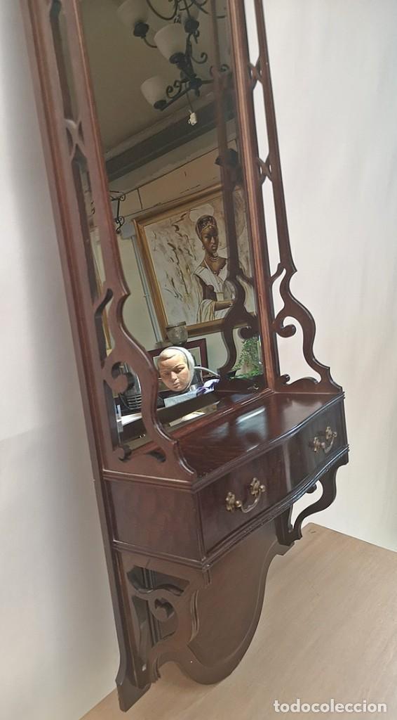 Antigüedades: Espejo con Cajón - Foto 4 - 242272250