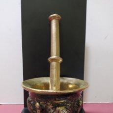 Antigüedades: ALMIREZ ANTIGUO DE BRONCE CON CONCHAS Y COSTILLAS. SIGLO XVIII. Lote 242306430
