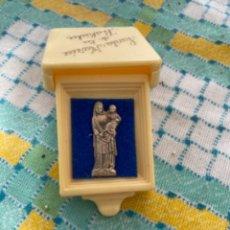 Antigüedades: SANTA MARIA DE LA RABIDA CAJITA CUSTODIA IMAGEN PLATA TERCIOPELO VIRGEN. Lote 242330445