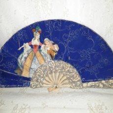 Antiquités: MARAVILLOSO ABANICO MODERNISTA FIRMADO. Lote 242341055
