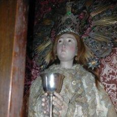 Antigüedades: CALIZ COPA COPON METAL PLATEADO MINIATURA 10,5CM ATRIBUTO D VIRGEN NIÑO JESUS SAN JUAN SEMANA SANTA. Lote 242347665