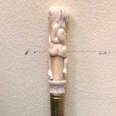 Antigüedades: BASTÓN EROTICO DE MARFIL. Lote 242424370