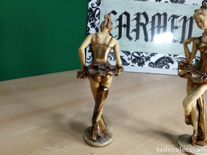 Antigüedades: DOS FIGURAS ANTIGUAS DE DOS BAILARINAS, DESCONOZCO EL MATERIAL, BELLISIMAS - Foto 17 - 242426120
