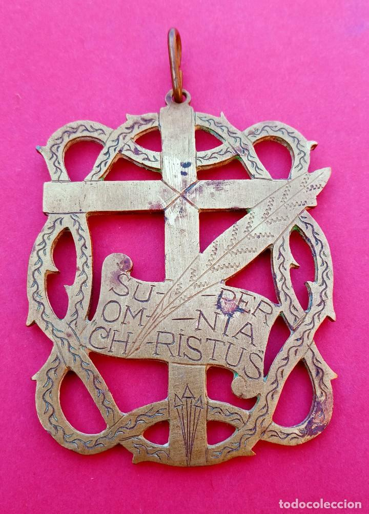 GRAN MEDALLA ANTIGUA HERMANDAD DE PENITENCIA. SAN FERNANDO. CÁDIZ (Antigüedades - Religiosas - Medallas Antiguas)